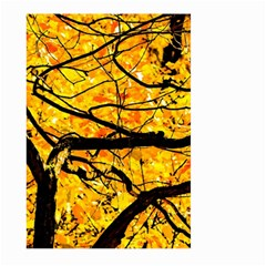 Golden Vein Large Garden Flag (two Sides) by FunnyCow