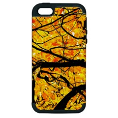 Golden Vein Apple Iphone 5 Hardshell Case (pc+silicone)