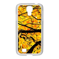 Golden Vein Samsung Galaxy S4 I9500/ I9505 Case (white) by FunnyCow