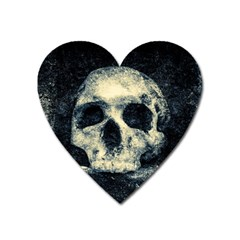 Skull Heart Magnet by FunnyCow