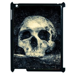 Skull Apple Ipad 2 Case (black) by FunnyCow