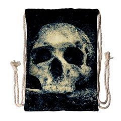 Skull Drawstring Bag (large) by FunnyCow