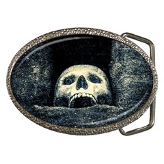 Smiling Skull Belt Buckles by FunnyCow