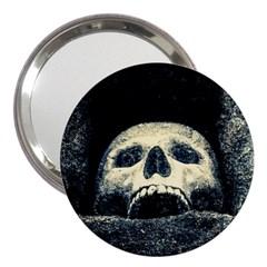 Smiling Skull 3  Handbag Mirrors by FunnyCow