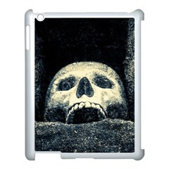 Smiling Skull Apple Ipad 3/4 Case (white) by FunnyCow