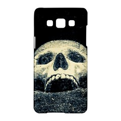 Smiling Skull Samsung Galaxy A5 Hardshell Case  by FunnyCow
