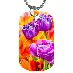Tulip Flowers Dog Tag (two Sides) by FunnyCow