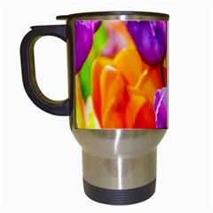 Tulip Flowers Travel Mugs (white) by FunnyCow