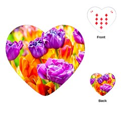 Tulip Flowers Playing Cards (heart)  by FunnyCow