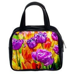 Tulip Flowers Classic Handbags (2 Sides) by FunnyCow
