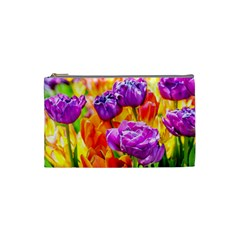 Tulip Flowers Cosmetic Bag (small)  by FunnyCow
