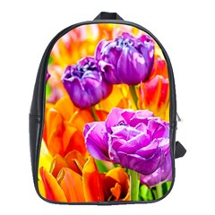 Tulip Flowers School Bag (large) by FunnyCow