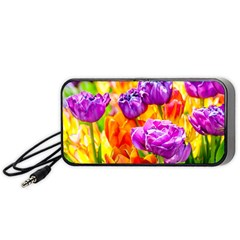Tulip Flowers Portable Speaker by FunnyCow