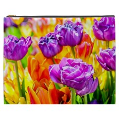 Tulip Flowers Cosmetic Bag (xxxl)  by FunnyCow