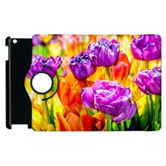 Tulip Flowers Apple Ipad 3/4 Flip 360 Case by FunnyCow