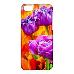 Tulip Flowers Apple Iphone 5c Hardshell Case by FunnyCow