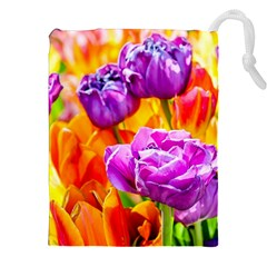Tulip Flowers Drawstring Pouches (xxl) by FunnyCow