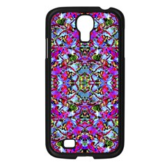Multicolored Floral Collage Pattern 7200 Samsung Galaxy S4 I9500/ I9505 Case (black) by dflcprints