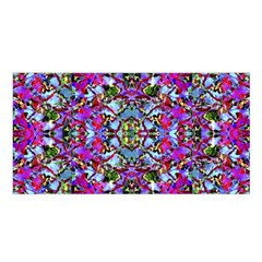 Multicolored Floral Collage Pattern 7200 Satin Shawl by dflcprints