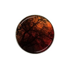 Sunset Silhouette Winter Tree Hat Clip Ball Marker (10 Pack)