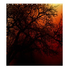 Sunset Silhouette Winter Tree Shower Curtain 66  X 72  (large)