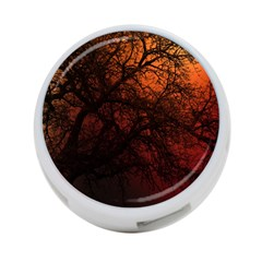 Sunset Silhouette Winter Tree 4-port Usb Hub (two Sides)