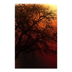 Sunset Silhouette Winter Tree Shower Curtain 48  X 72  (small)