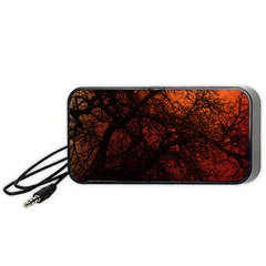 Sunset Silhouette Winter Tree Portable Speaker (black)