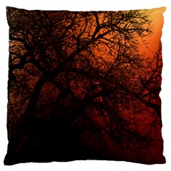 Sunset Silhouette Winter Tree Standard Flano Cushion Case (one Side)