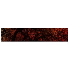 Sunset Silhouette Winter Tree Small Flano Scarf
