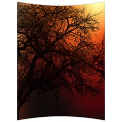 Sunset Silhouette Winter Tree Velour Seat Cushion