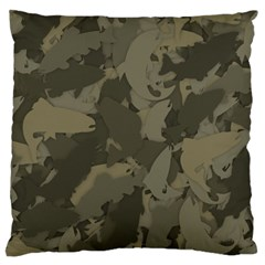 Country Boy Fishing Camouflage Pattern Large Cushion Case (one Side) by allthingseveryday