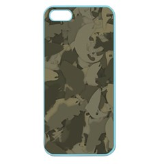 Country Boy Fishing Camouflage Pattern Apple Seamless Iphone 5 Case (color) by allthingseveryday