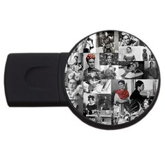 Frida Kahlo Pattern Usb Flash Drive Round (2 Gb)