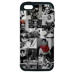 Frida Kahlo Pattern Apple Iphone 5 Hardshell Case (pc+silicone) by Valentinaart