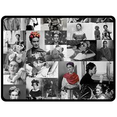 Frida Kahlo Pattern Double Sided Fleece Blanket (large)  by Valentinaart