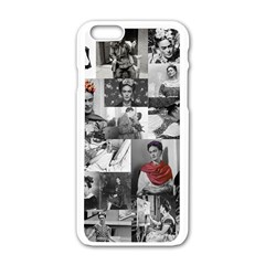 Frida Kahlo Pattern Apple Iphone 6/6s White Enamel Case by Valentinaart
