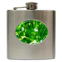 Inside The Grass Hip Flask (6 Oz) by FunnyCow