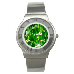 Inside The Grass Stainless Steel Watch