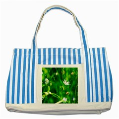 Inside The Grass Striped Blue Tote Bag