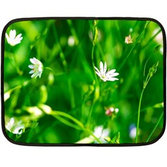 Inside The Grass Double Sided Fleece Blanket (mini)  by FunnyCow