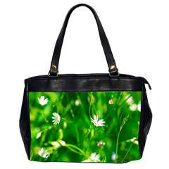 Inside The Grass Office Handbags (2 Sides)  by FunnyCow
