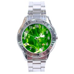 Inside The Grass Stainless Steel Analogue Watch by FunnyCow