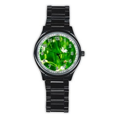 Inside The Grass Stainless Steel Round Watch