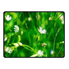 Inside The Grass Double Sided Fleece Blanket (small)  by FunnyCow