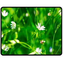 Inside The Grass Double Sided Fleece Blanket (medium)  by FunnyCow