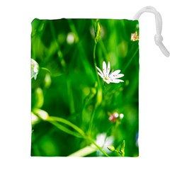 Inside The Grass Drawstring Pouches (xxl) by FunnyCow