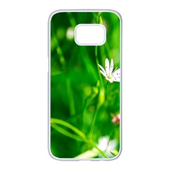 Inside The Grass Samsung Galaxy S7 Edge White Seamless Case