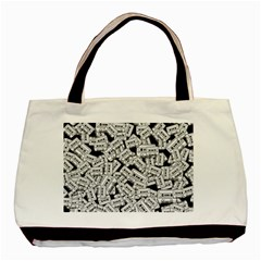 Audio Tape Pattern Basic Tote Bag by Valentinaart