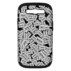 Audio Tape Pattern Samsung Galaxy S Iii Hardshell Case (pc+silicone) by Valentinaart